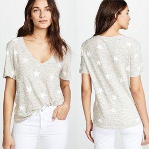 Splendid | Liberty Star Print V-Neck T-Shirt Sz M